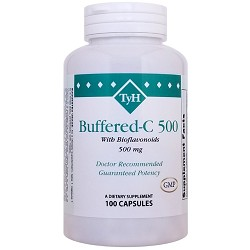 Buffered-C 500 mg  (Vitamin C & Bioflavonoids) 100 Capsules